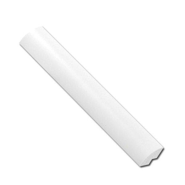 White 12mm upvc quadrant trim for Window quadrant