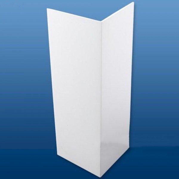 100mm(2mm) x 100mm (3mm) UPVC Plastic Rigid Angle 2.5m