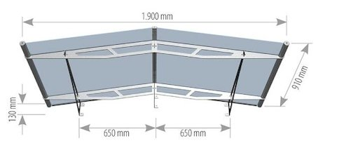 sc 1 st  Fascias.com & 1900mm Door Canopies Lightline Pro Finish Pitched Contract