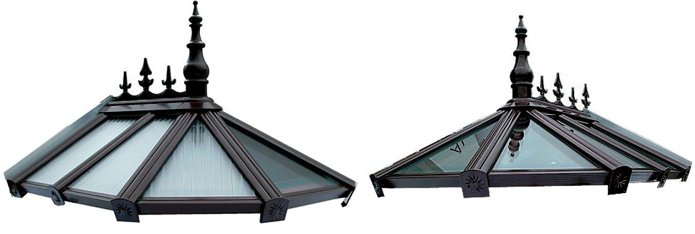 Polycarbonate or Glass Timber Supported Hip Roofs