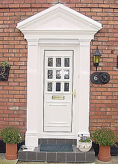 Sophisticated front door surround kits photos plan 3d for House columns prices