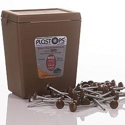 Oak Fascia Nails 50mm Plastic Head Top Pins - 100 Pieces