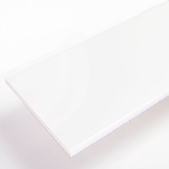White Flat Soffit Board uPVC | 9 mm X 200 mm X 5 m