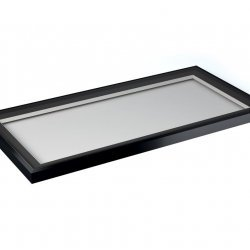 1000 mm X 2000 mm Flat Roof Light - Grey on White
