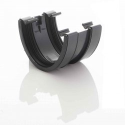 Antracite 115 mm Deep Flow Gutter Union