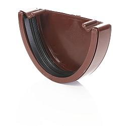 Brown Deep Gutter External  Stop End - 115mm