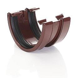 Brown 115mm Deep Flow Guttering Union