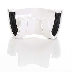 White Half Round Gutter 135º Angle (RA2W)