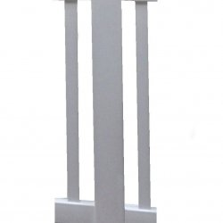 36 inch Balustrade Inline Post in White
