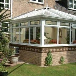 Conservatory 3.0m  x 3.0m Edwardian On Dwarf Walls