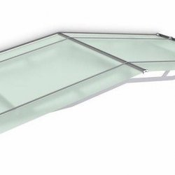 Pro Pitched Door Canopy 1900 x 910 Frosted Green Acrylic
