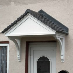 The Carisbrooke GRP Over Door Canopy