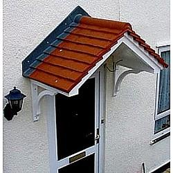 The Cheltenham GRP Over Door Canopy White