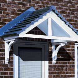 The Cheltenham GRP Over Door Canopy White