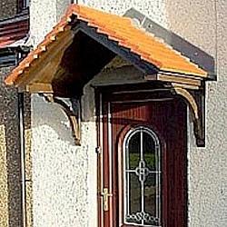 The Cheltenham GRP Over Door Canopy Woodgrain