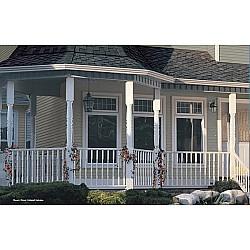 Royal Colonial Vinyl Load Bearing Columns Supporting Porch Pillars