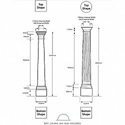 Plain GRP Porch Columns