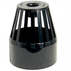 Black Soil Pipe Roof Cowl - Vent Terminal  (SP302B)