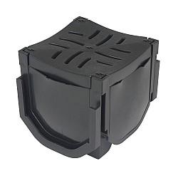 FloDrain Corner Unit Black 110mm x 110mm