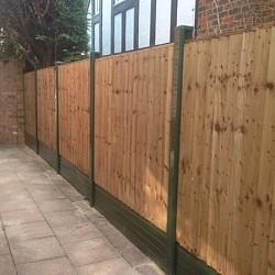 PVCu Plastic Brown In-line Garden Fence Post