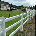 Garden 3 Rail Post & Rail Fence System White