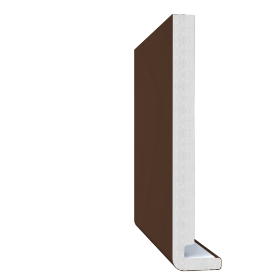 18mm x 200mm Magnum Square Leg / Reveal Liner Fascia - Leather Brown