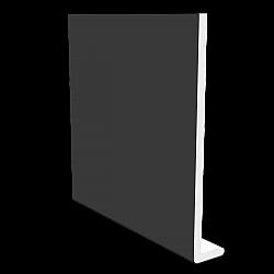 Smooth Black 10mm x 175mm Square Leg Fascia - Black