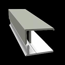 Misty Grey 2-Part Edge Cladding Trim - 3 Metre