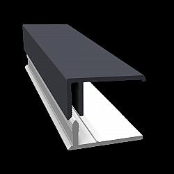 Slate Grey 2-Part Edge Cladding Trim - 3 Metre