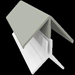 Misty Grey 2-Part External Corner Trim - 3 Metre