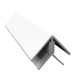 White 2-Part External Corner Trim - 3 Metre