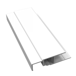 White Starter Trim for Fortex Cladding