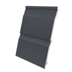 333mm Double Plank Shiplap Embossed - Slate Grey