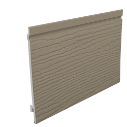 170mm Feather Edge Embossed Cladding - Argyl Brown