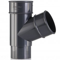 Anthracite 7016 Round Down Pipe Y Branch