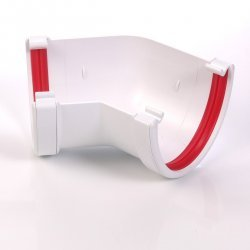 Dee Flow Guttering 135 Degree Angle Brilliant White