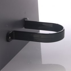 Black - Round Pipe Clip (Stand-Off) - uPVC
