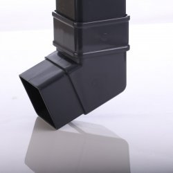 Anthracite Grey Square Down Pipe 112 Degree Off Set Bend  7016