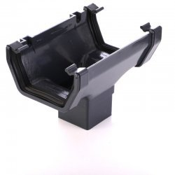 Anthracite Gutter Running Outlet 7016
