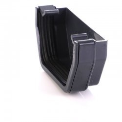 Anthracite Grey Square Gutter Stop End External 7016