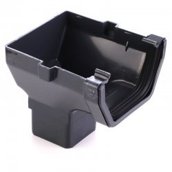 Anthracite Grey Square Gutter Stop End Outlet 7016