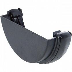 Cast Iron Effect 112mm Half Round Gutter External Stop End