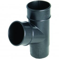 Cast Iron Effect 68mm Round Downpipe 67½° Y-Branch