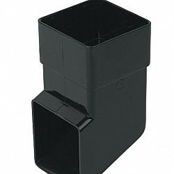 65mm Black Square Downpipe Shoe