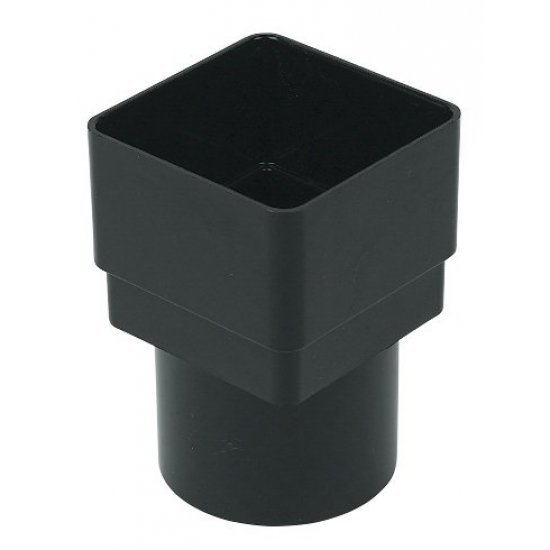 65mm Black Square to 68mm Round Downpipe Converter