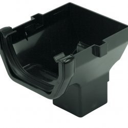 114mm Black Square Stop End Outlet (AO2B)