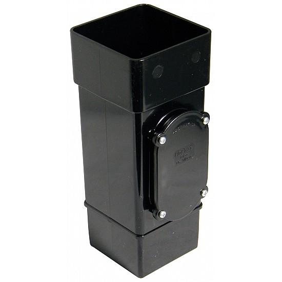 65mm Black Square Downpipe Access pipe (RXS1B)