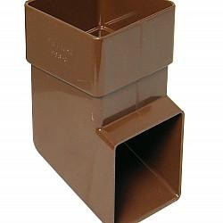 65mm Brown Square Downpipe Shoe