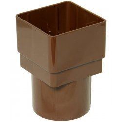 65mm Brown Square to 68mm Round Downpipe Converter