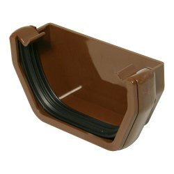 Brown Square Gutter  External Stop End